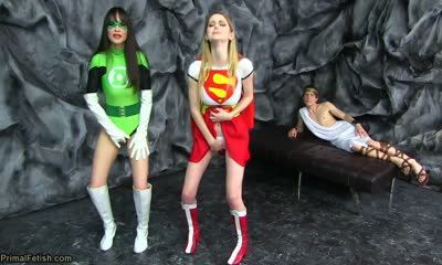 The Power of Eros - Supergirl and Green Lantern Overwhelming Lesbian Lust XXX