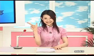JAPANESE ANCHORWOMAN . IN A LIVE