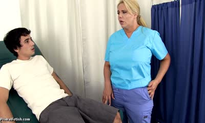 Karen Fisher Getting Treated by the School Nurse