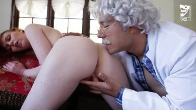 Marie McCray - The magic pill old guy  tricks red head hottie to fuck her using the magic pill